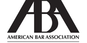 American Bar Association member logo for attorney memberships.