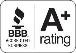 BBB A+ rating for The Finity Law Firm.